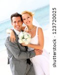 cheerful married couple... | Shutterstock . vector #123720025