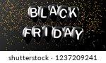 black friday  black balloons... | Shutterstock . vector #1237209241