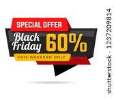 black friday sale banner   Shutterstock .eps vector #1237209814