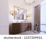 modern wooden vanity with a... | Shutterstock . vector #1237209931
