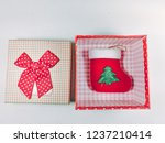 presents gift boxes and red... | Shutterstock . vector #1237210414
