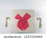presents gift boxes and red... | Shutterstock . vector #1237210444