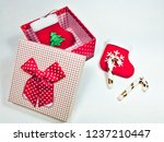 presents gift boxes and red... | Shutterstock . vector #1237210447