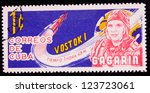 cuba   circa 1963  a stamp... | Shutterstock . vector #123723061