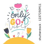 positive poster design with... | Shutterstock .eps vector #1237250911