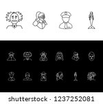 person icon set and boy with...