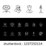 human icon set and boy with...