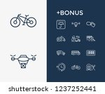 cargo icon set and suv with...