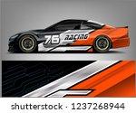 racing car wrap design. sport...   Shutterstock .eps vector #1237268944