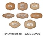 vector retro vintage cardboard... | Shutterstock .eps vector #123726901