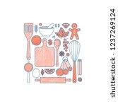 kitchenware set. kitchen tools... | Shutterstock .eps vector #1237269124
