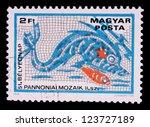 hungary   circa 1978  a stamp... | Shutterstock . vector #123727189