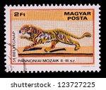 hungary  circa 1978  a stamp... | Shutterstock . vector #123727225