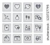 Valentine's Day Icons - stock vector
