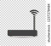 wi fi transmitter vector icon... | Shutterstock .eps vector #1237278484