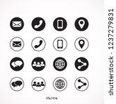 contact icon set | Shutterstock .eps vector #1237279831