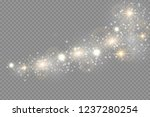 glow light effect. vector... | Shutterstock .eps vector #1237280254