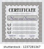 grey certificate template or... | Shutterstock .eps vector #1237281367