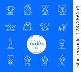 lineo   awards and trophy line... | Shutterstock .eps vector #1237286554