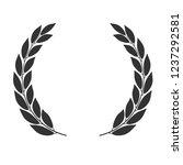 laurel wreath vector icon... | Shutterstock .eps vector #1237292581