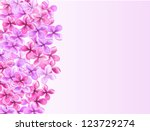 lilac pattern with empty space | Shutterstock . vector #123729274