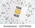 success internet banner...   Shutterstock . vector #123729361