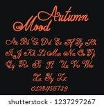fony autumn mood. orange... | Shutterstock .eps vector #1237297267