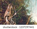 portrait of a shaggy ...   Shutterstock . vector #1237297441