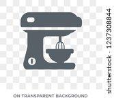 mixer icon. mixer design... | Shutterstock .eps vector #1237308844