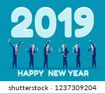 business people celebrating the ...   Shutterstock .eps vector #1237309204