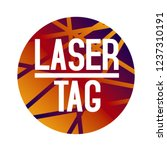 vector logo for laser tag and... | Shutterstock .eps vector #1237310191