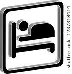 2d vector hotel   motel ... | Shutterstock .eps vector #1237318414