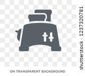 toaster icon. toaster design... | Shutterstock .eps vector #1237320781