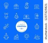 lineo white   christmas line... | Shutterstock .eps vector #1237325821