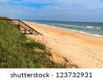 Florida Beach With Wooden Ocean ...