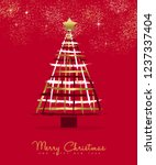 merry christmas and happy new... | Shutterstock .eps vector #1237337404