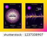 techno music poster. wave flyer ... | Shutterstock .eps vector #1237338907