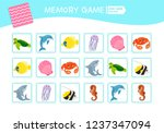 memory game for preschool... | Shutterstock .eps vector #1237347094