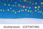 christmas lights background and ... | Shutterstock . vector #1237347481
