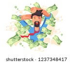 rich smiling man bathing in... | Shutterstock .eps vector #1237348417