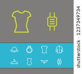 clothing icons set with ring ...