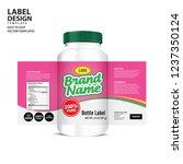 bottle label  package template... | Shutterstock .eps vector #1237350124