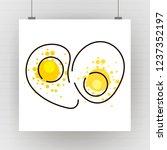 vector drawing of scrambled... | Shutterstock .eps vector #1237352197