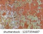 background of rusty metal wall... | Shutterstock . vector #1237354687