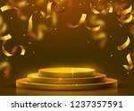 abstract round podium... | Shutterstock .eps vector #1237357591