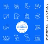 lineo white   feedback and... | Shutterstock .eps vector #1237359277
