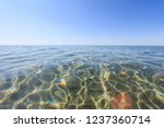 sun glare on the seabed | Shutterstock . vector #1237360714