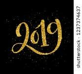 happy new 2019 year....   Shutterstock . vector #1237374637