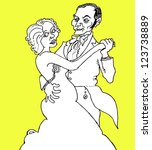 couple | Shutterstock .eps vector #123738889