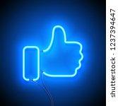 neon sign. retro neon sign like ... | Shutterstock .eps vector #1237394647